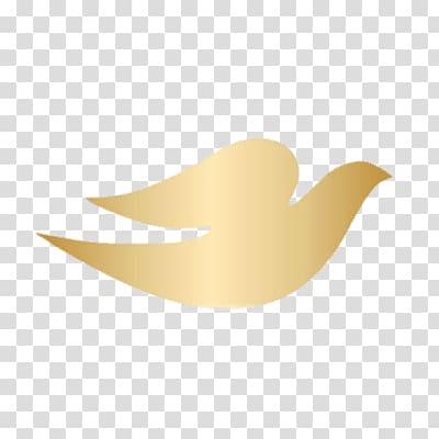Gold bird logo, Dove Logo transparent background PNG clipart.
