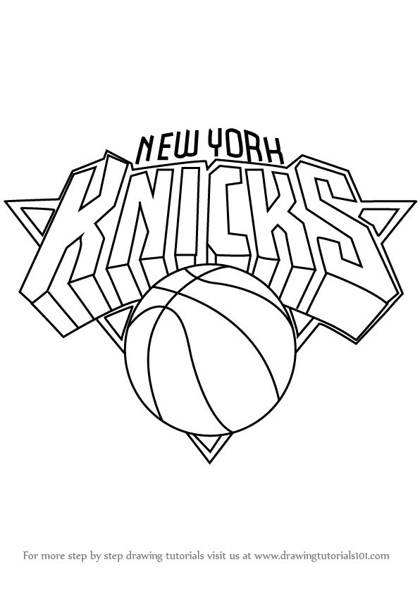 Learn How to Draw New York Knicks Logo (NBA) Step by Step.
