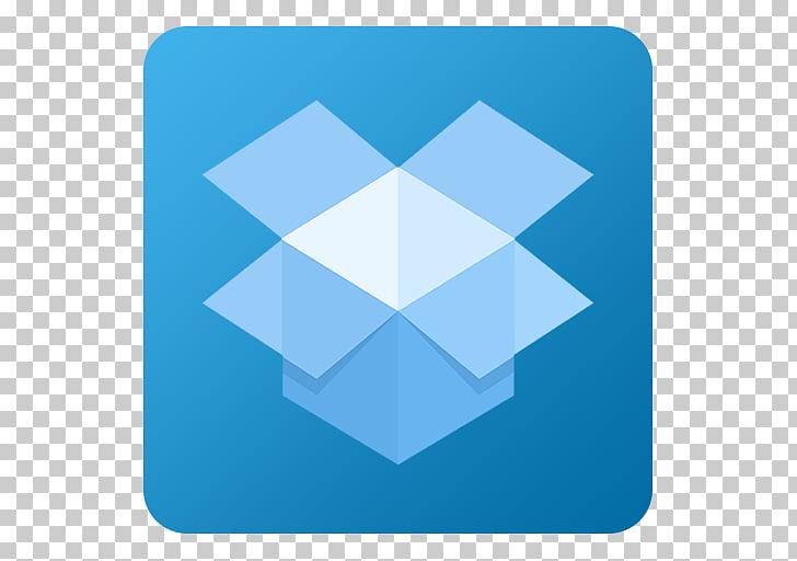 Electric blue square angle symmetry, Dropbox, Dropbox logo.