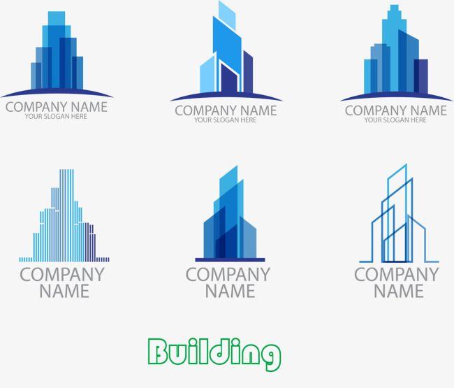6 Stylish Building Logo Design, Fashion, Construction, Icon.