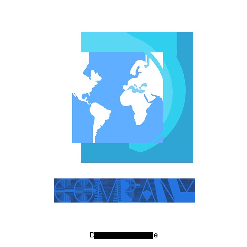 Logotipo Da Empresa Azul A Terra Logotipo Da Empresa PNG e.