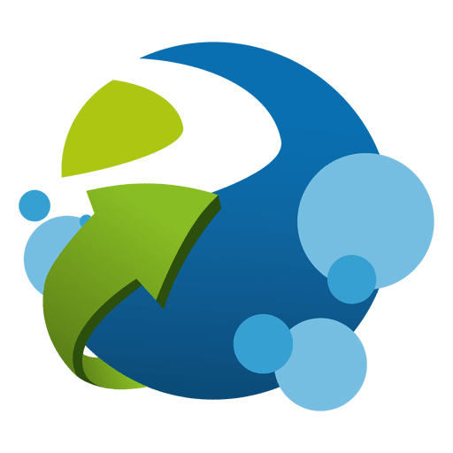 Growing logistic company logo.