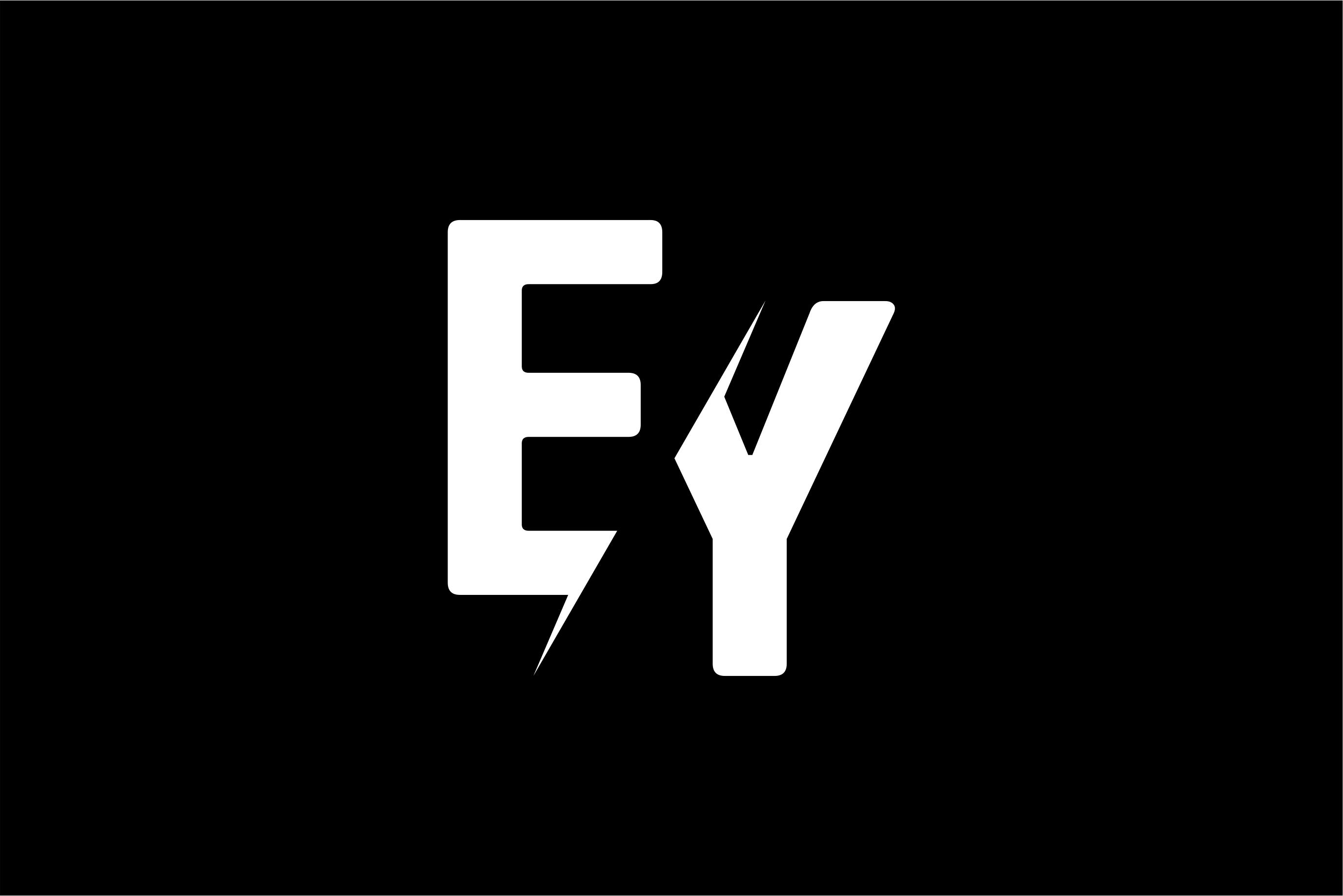 Monogram EY Logo.