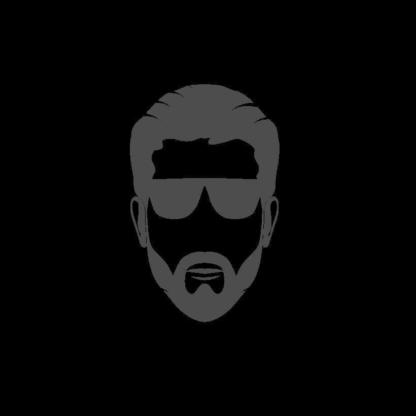 Man Face Logo Image.