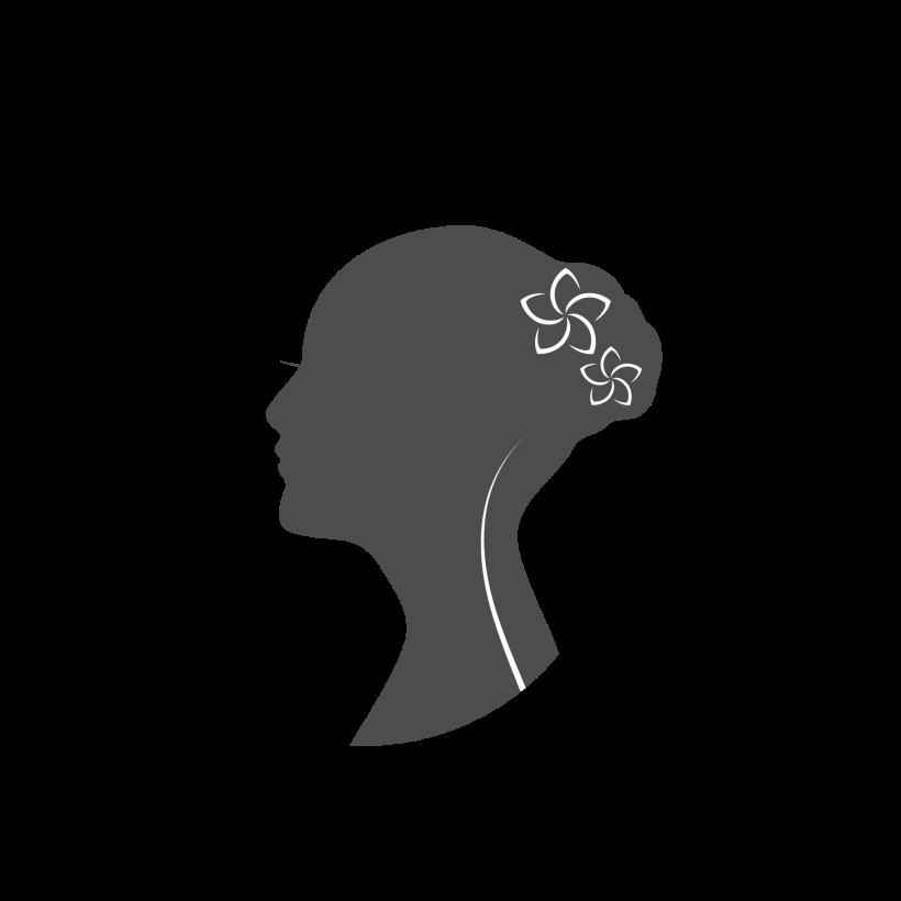 Beauty Female Face Logo Design Vector #67018.