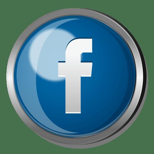 Facebook round metal button.