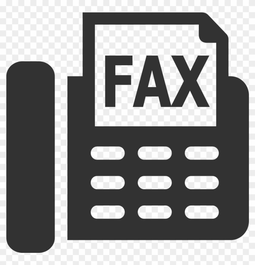Fax Machine Icon For Email Signature , Png Download.