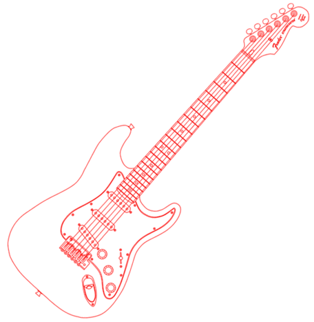 Fender Stratocaster Clipart Picture Free Download.