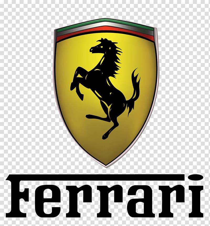 Ferrari logo, Ferrari Logo Txt transparent background PNG.