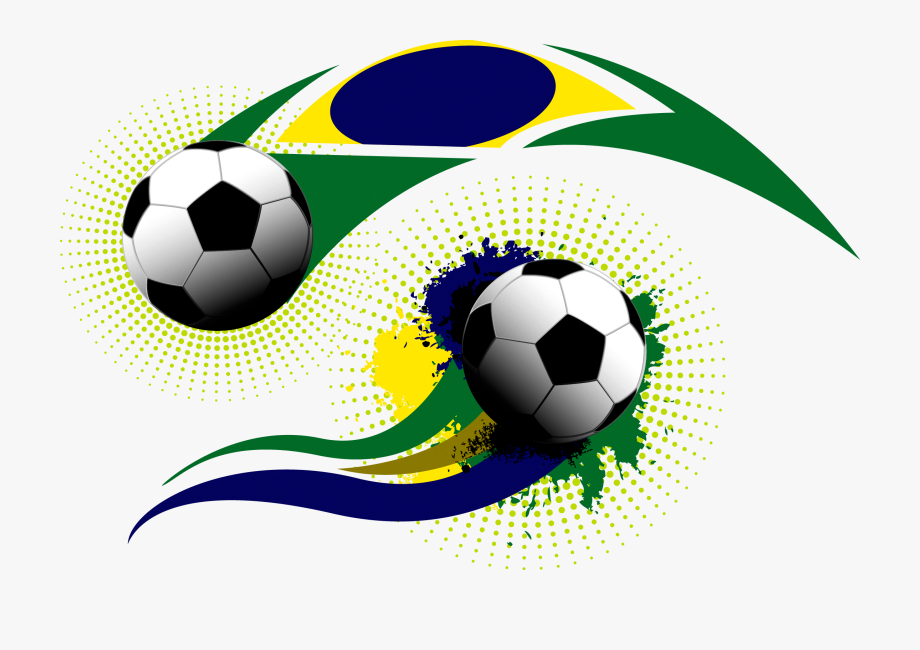 Soccer Ball On Grass Clipart.