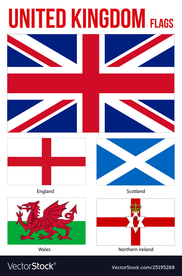 United kingdom countries flags collection flag of.