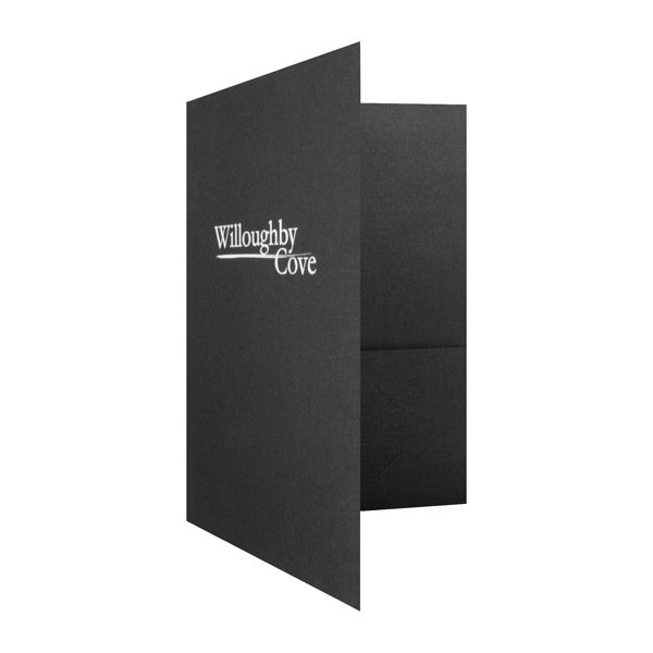Folder Design: Pocket Folders with Logo by Willoughby Cove.