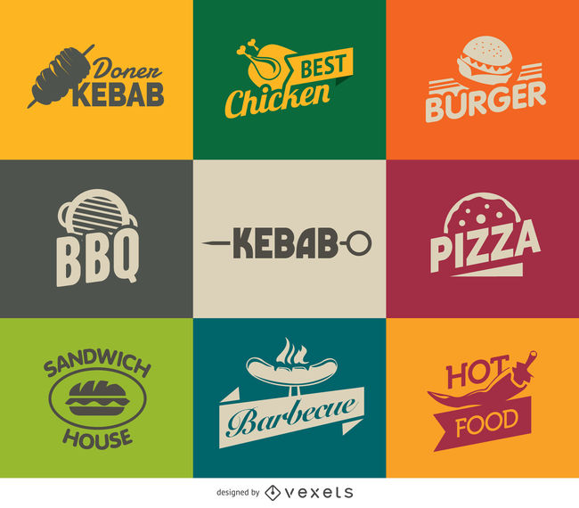 Fast Food Logos.