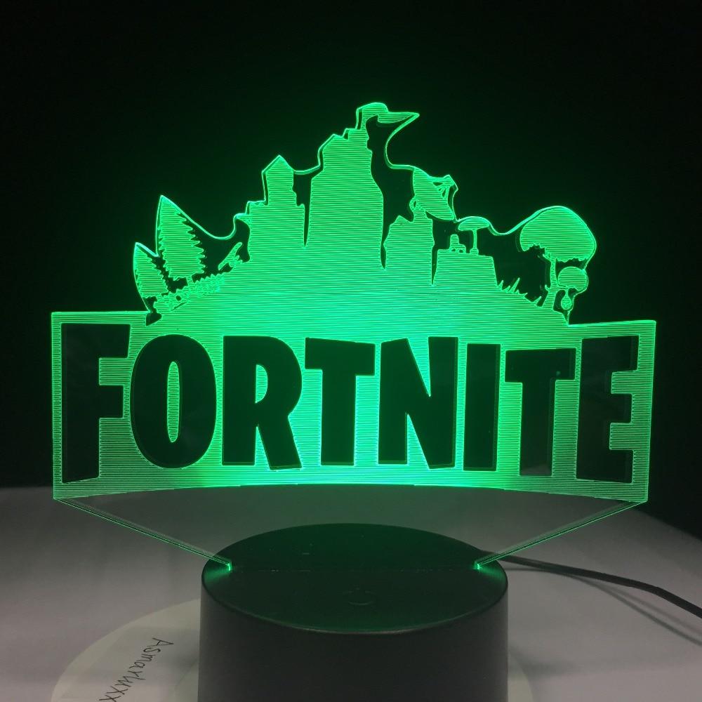 Fortnite 3D Color changing Led Lamp.