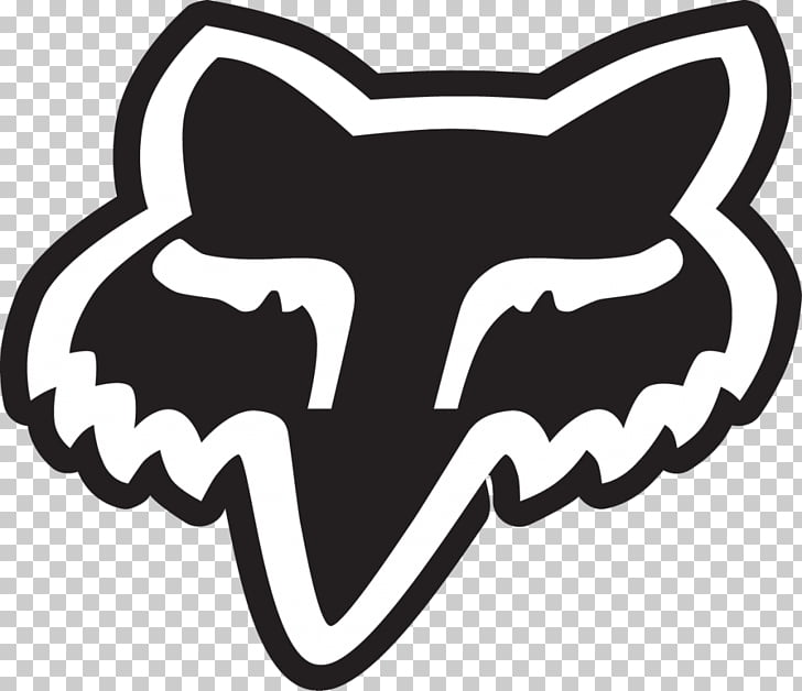 Logo Fox Racing Decal Sticker, fox, black and white Fox logo.
