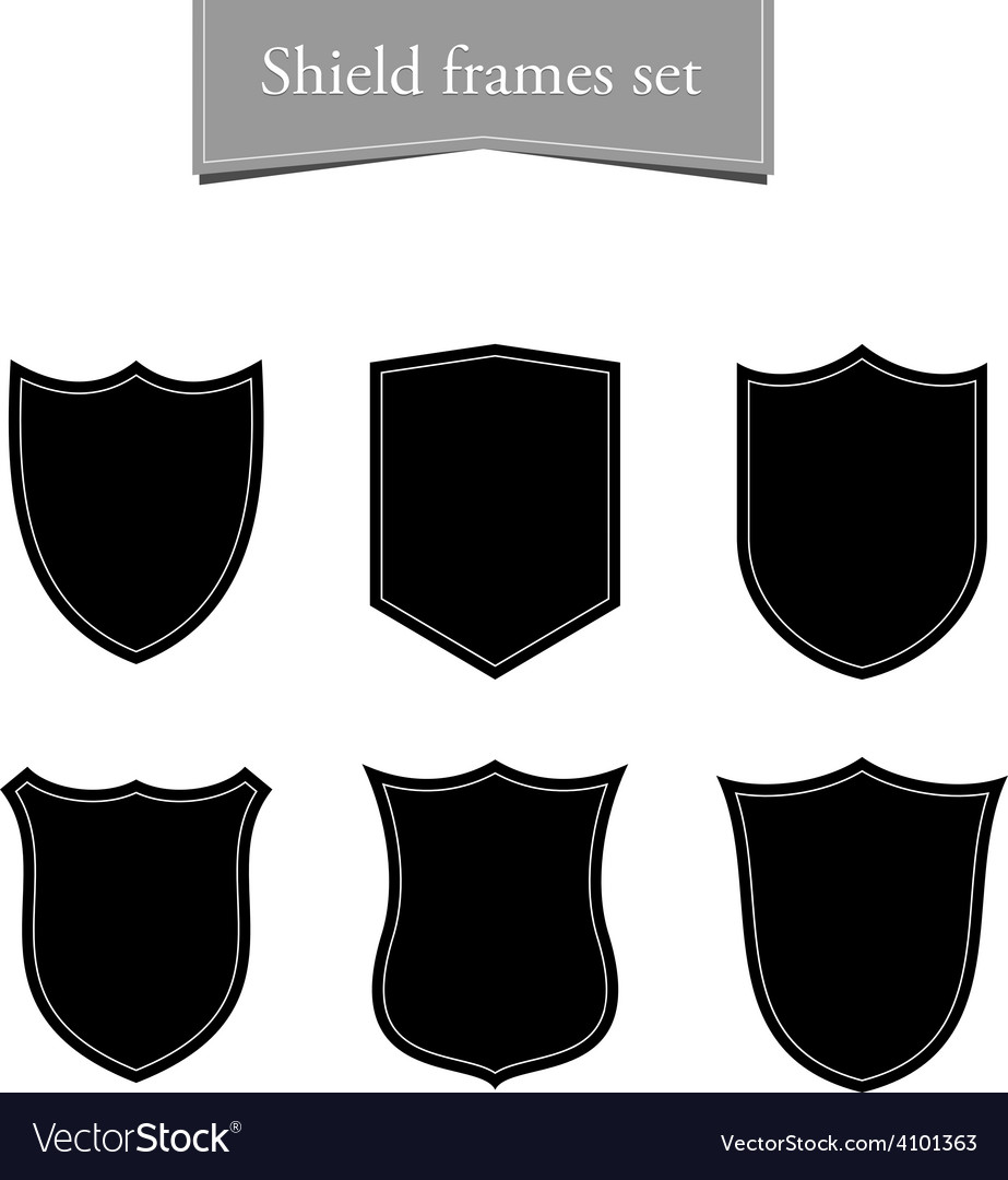 Shield logo backgrounds set Black frame.