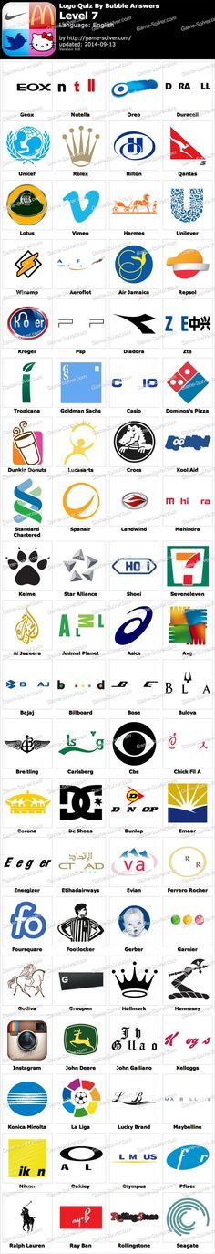 36 Best Logo Game Answers images.