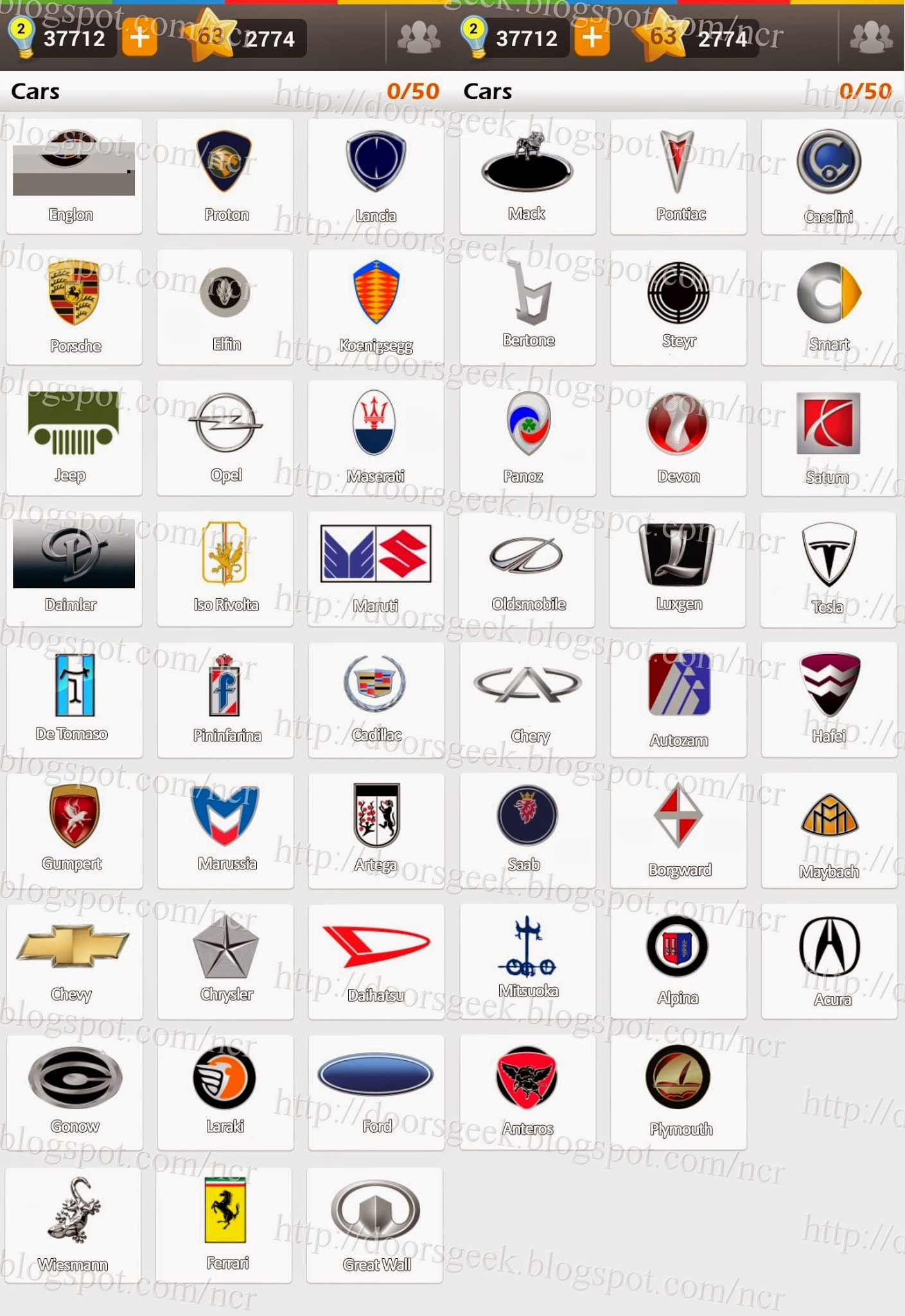Logo Game: Guess the Brand [Bonus] Cars ~ Doors Geek.