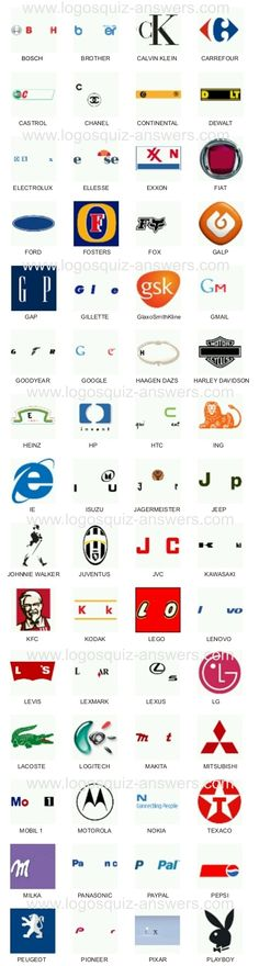 7 Best Logos Quiz Answers images.