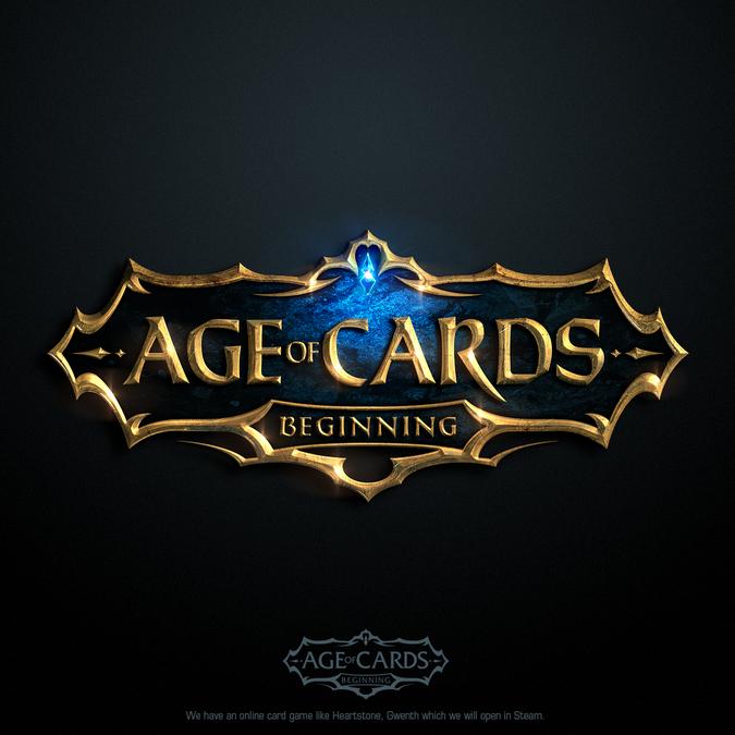 An Online Card Game Logo For Steam Platform.