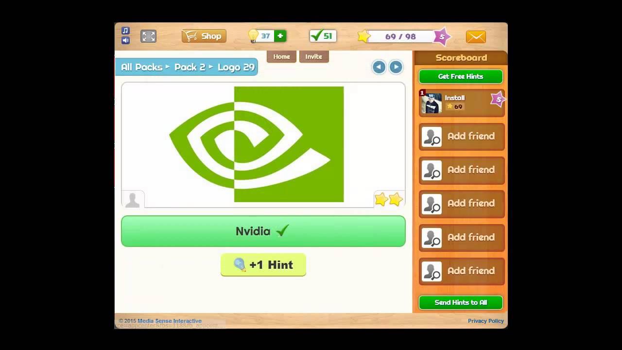 Logo Game Facebook Answers Pack 2 Regular 50/50.