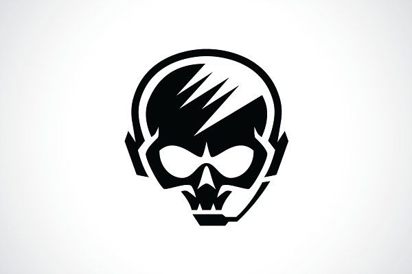 Hardcore Skull Gamer Logo Template by Heavtryq Design on.