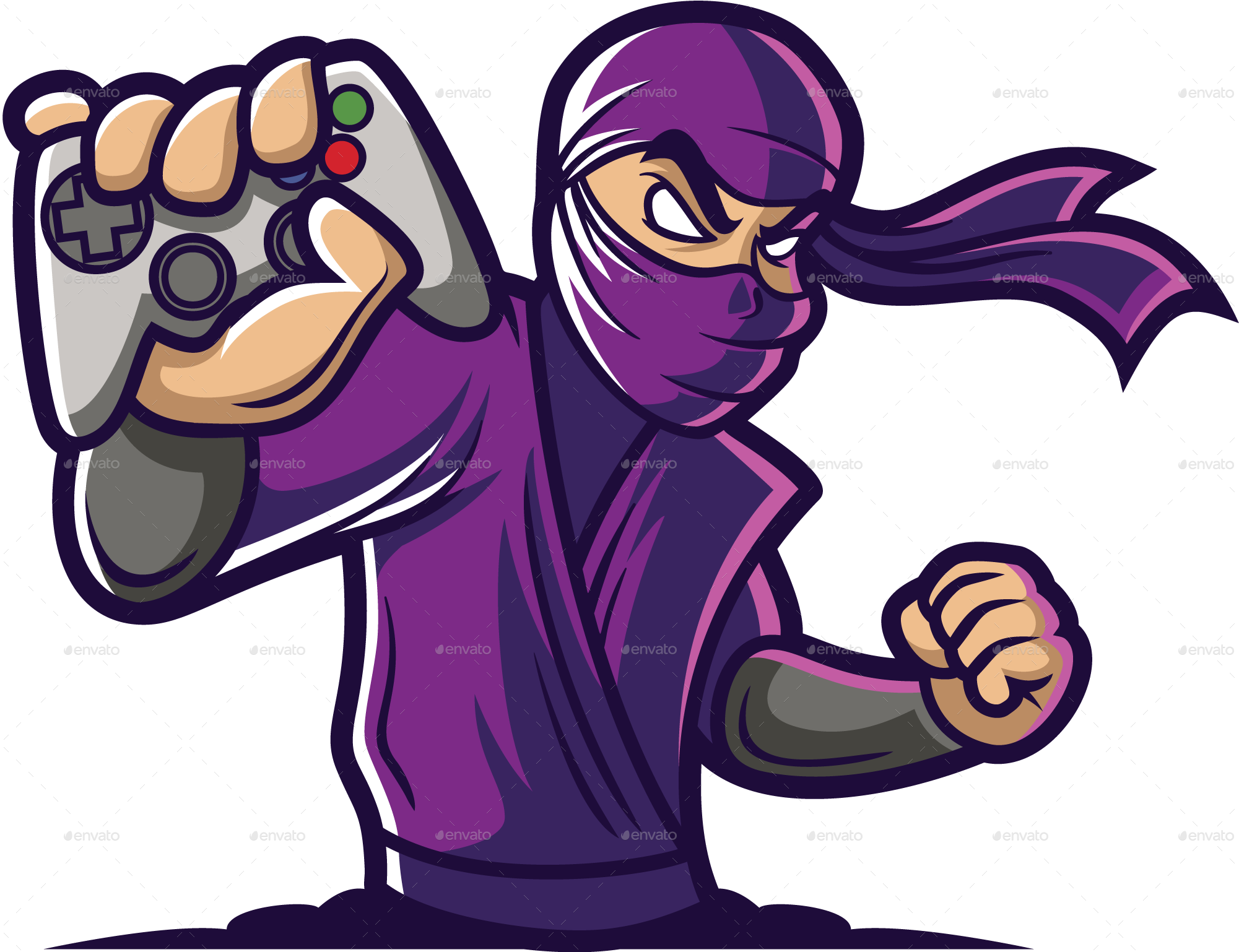 Gaming Ninja Logo Template.