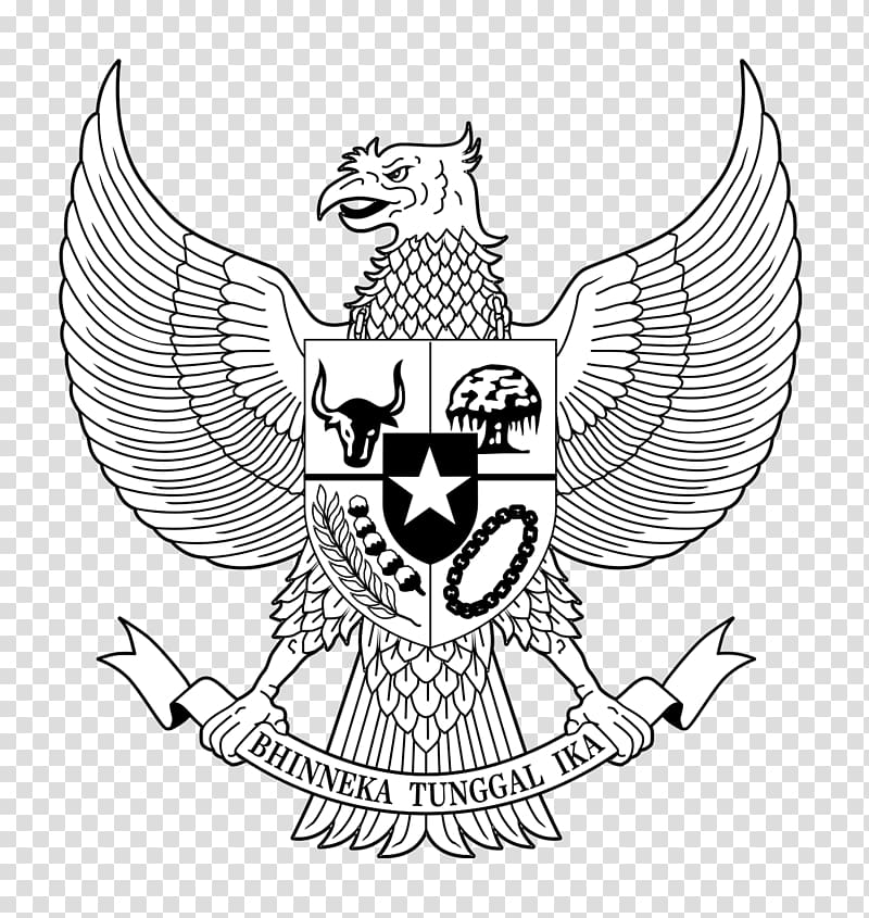 Bhinneka Tunggal Ika logo, National emblem of Indonesia.