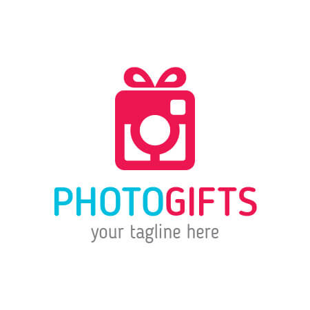 Photo Gifts Logo Template.