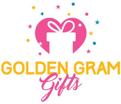 Golden Gram Gifts Logo Design.