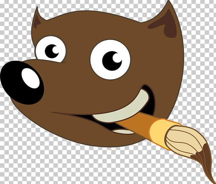GIMP Logo PNG, Clipart, Animals, Brush, Carnivoran, Cartoon.