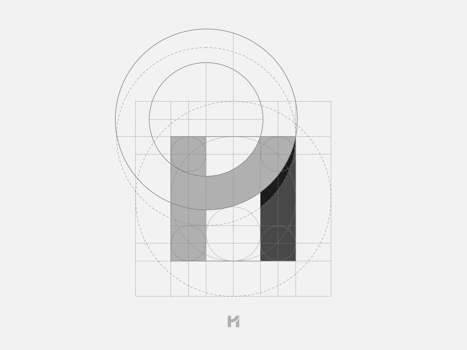 Michał Piętoń logo grid.