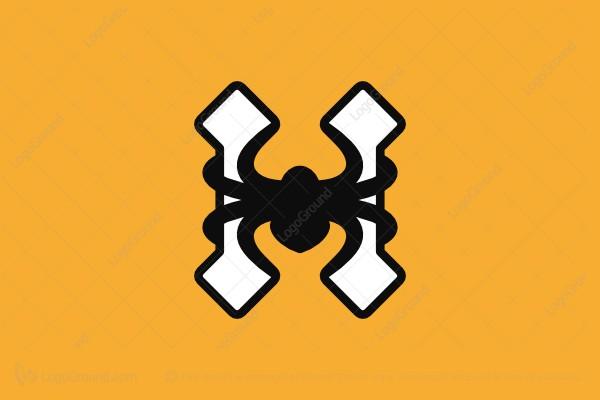 Exclusive Logo 152503, Letter H Spider Logo.