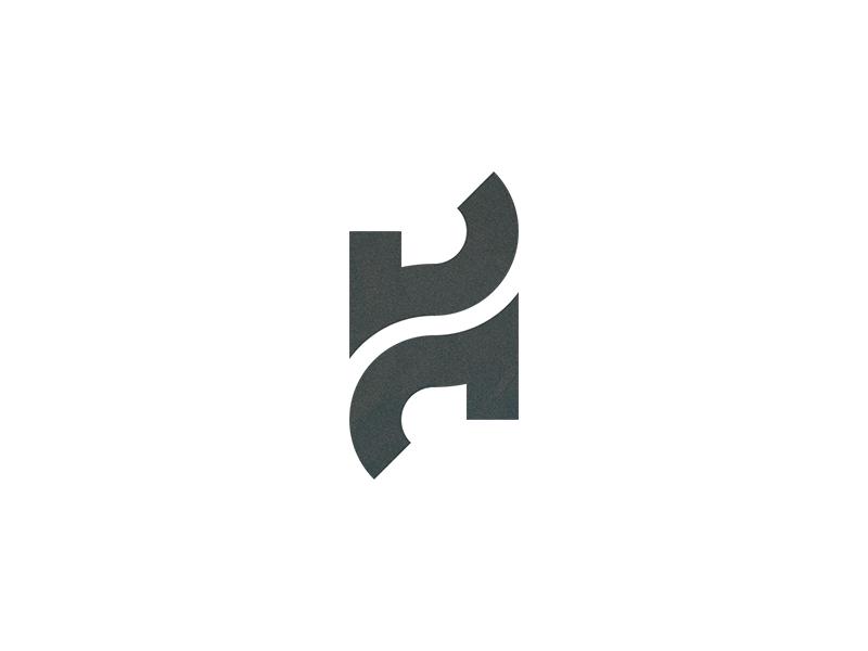 H Logo by John Fink on Dribbble.