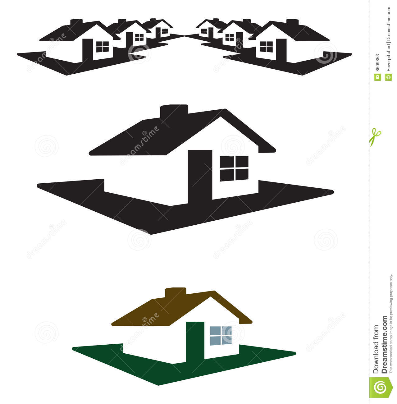 House Logo And Header Stock Photos.