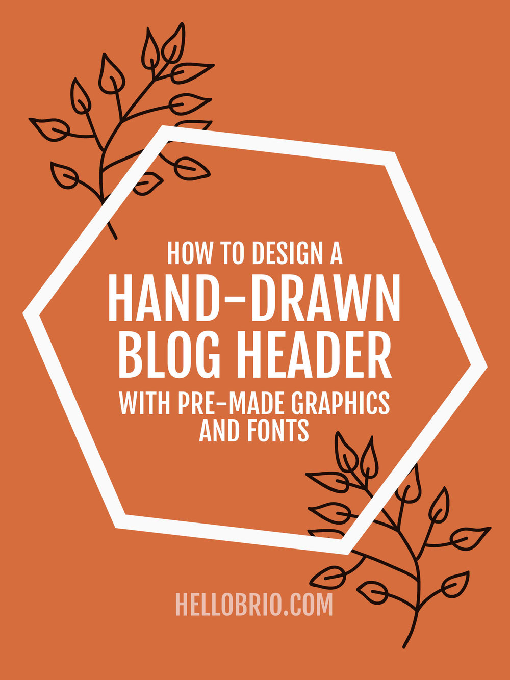 Create a blog header with pre.