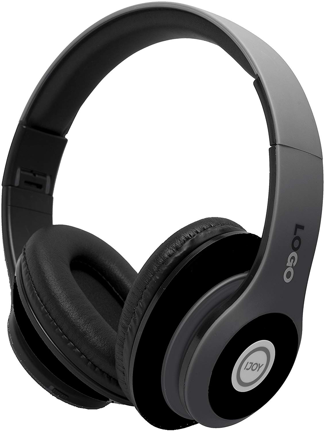 iJoy Matte Finish Premium Rechargeable Wireless Headphones Bluetooth Over  Ear Headphones Foldable Headset with Mic (Stealth).