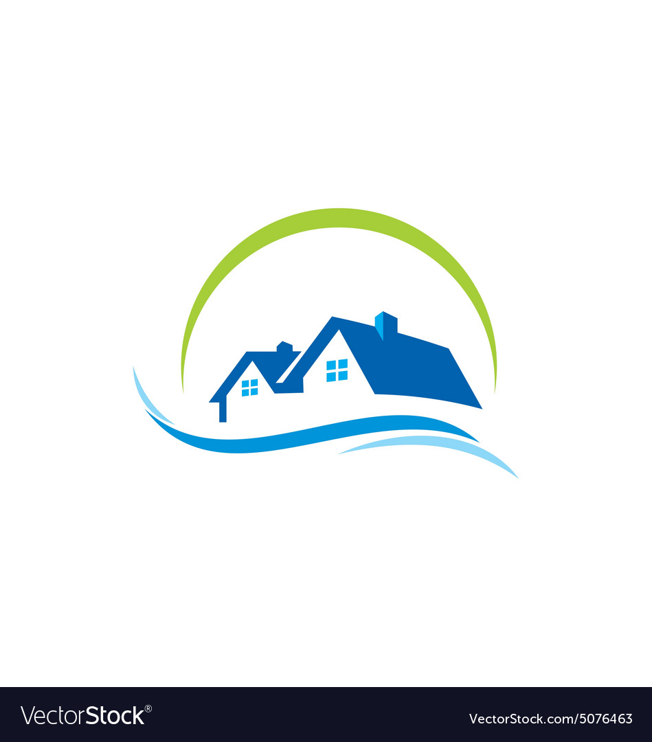 House water construction logo.