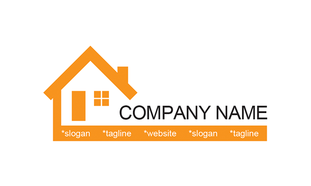 Free House Logo Template.