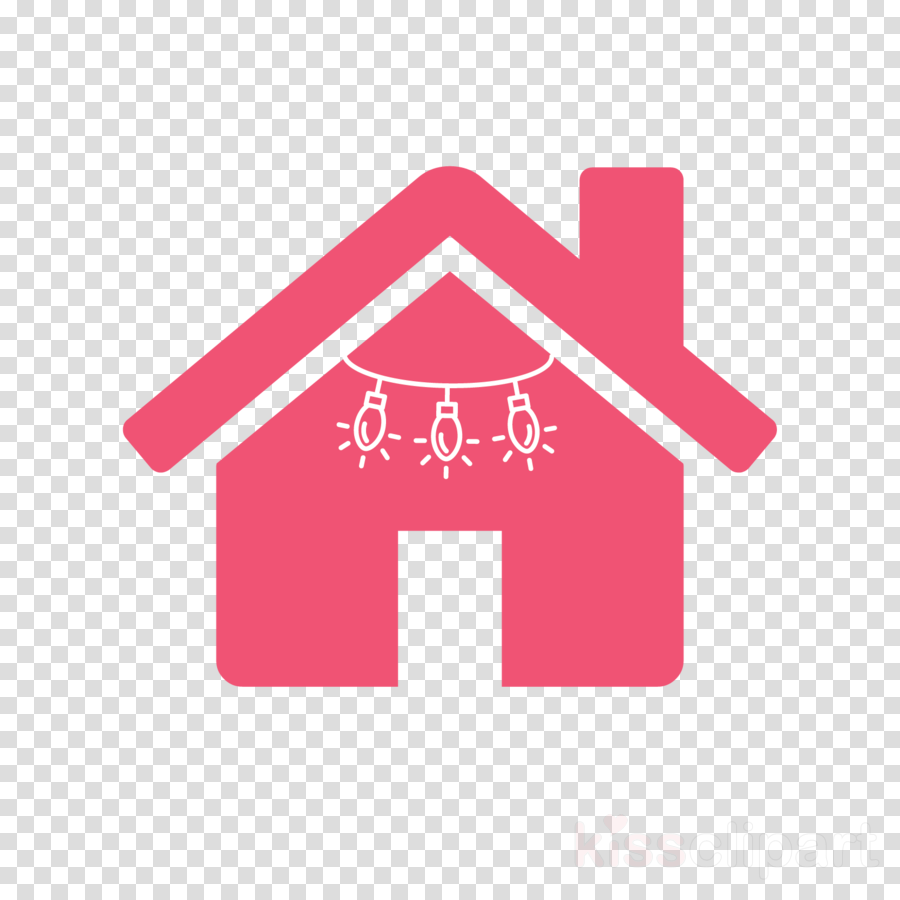 pink logo font house symbol clipart.
