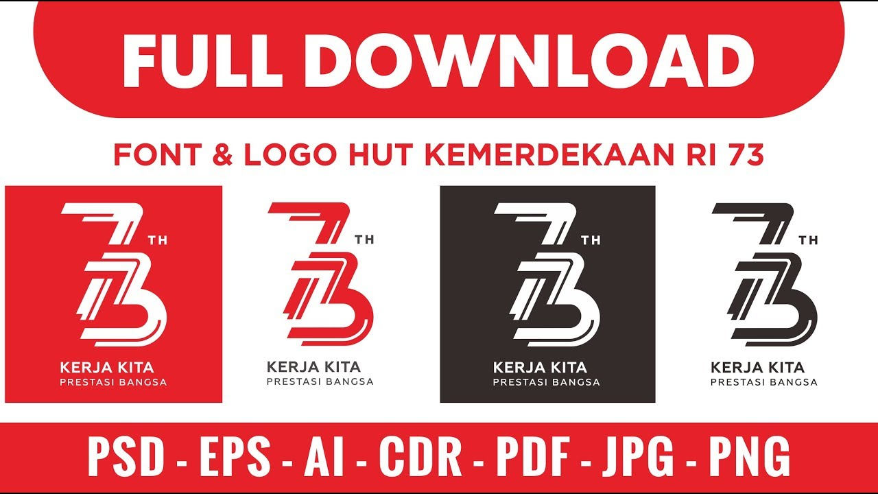 Download logo hut kemerdekaan ri ke 73.
