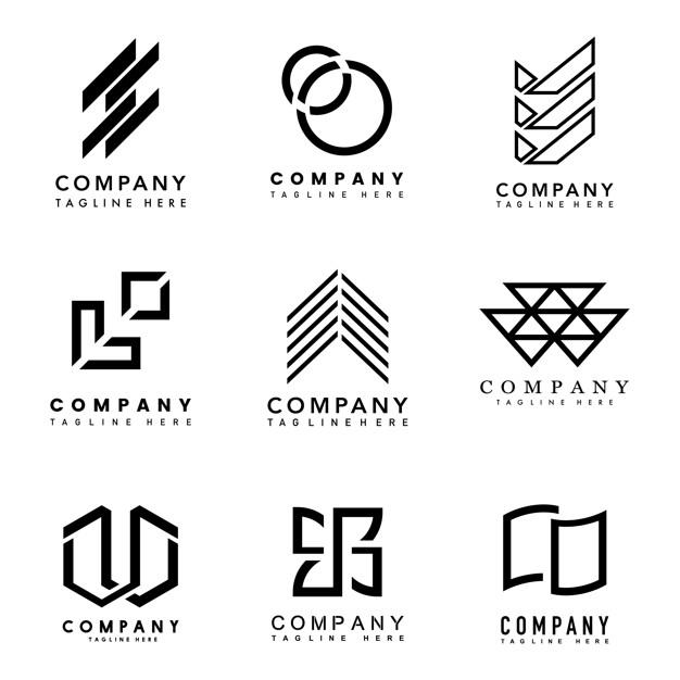 Set of company logo design ideas vector Vector.