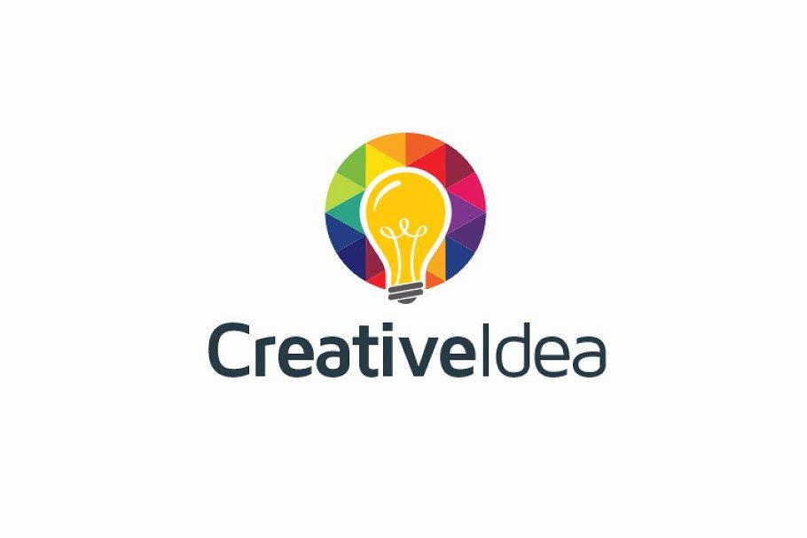 Creative Idea Bulb Logo.