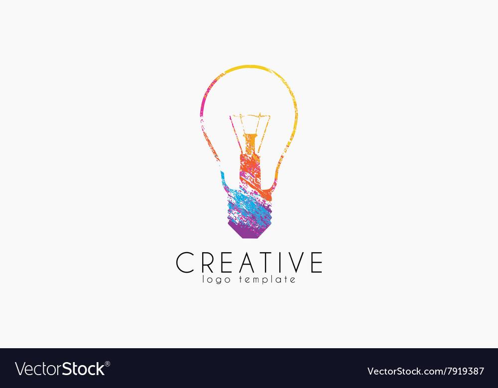 Lightbulb logo Idea logo Creative logo Bulb.