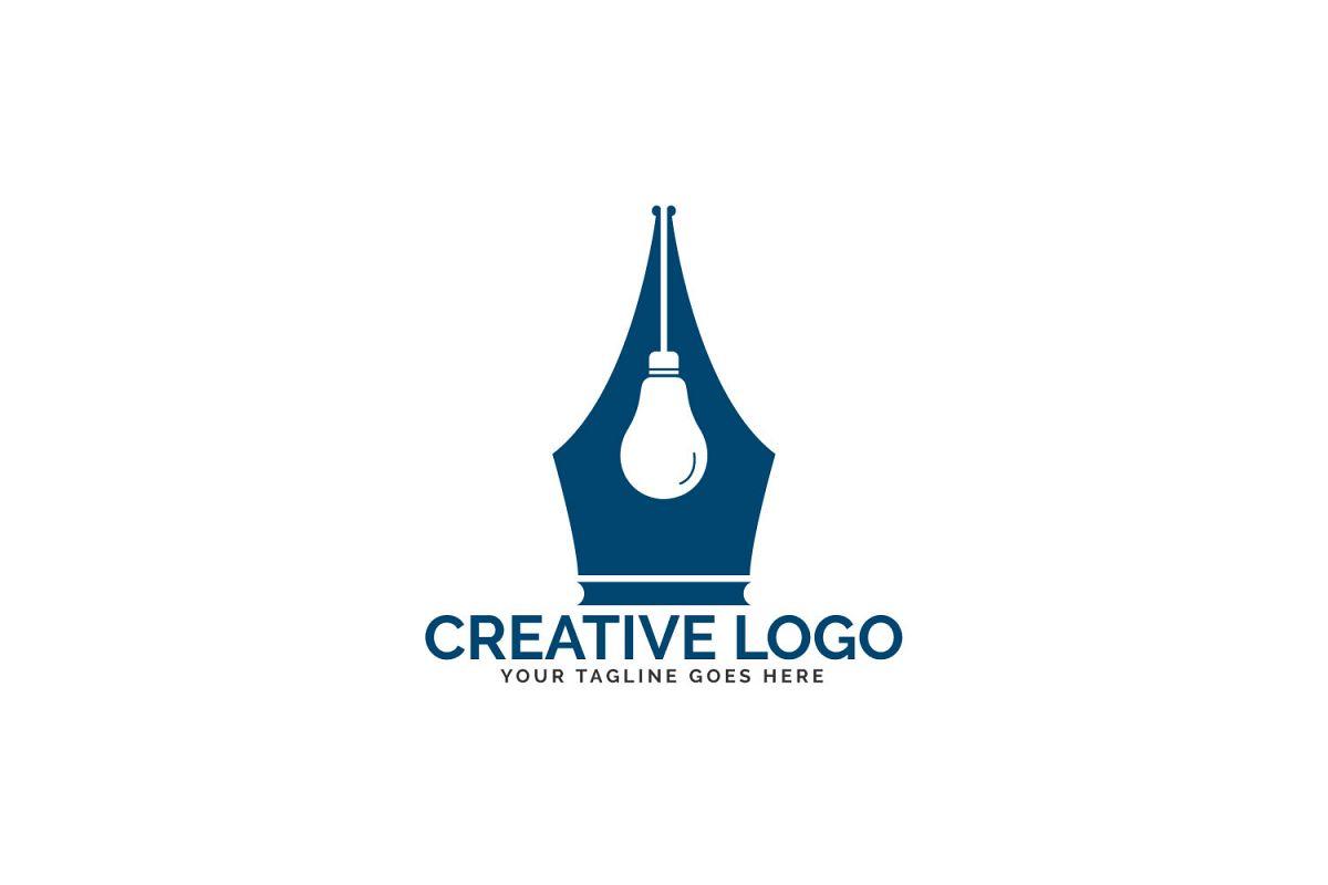 Pen Nib And Bulb Logo Idea..