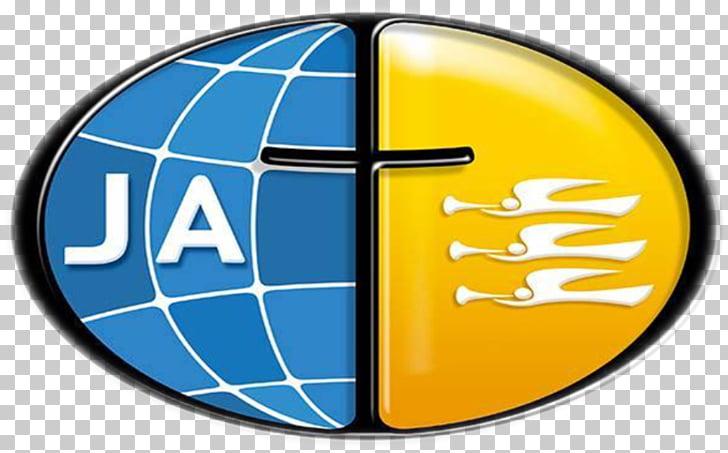 Aventureros de la sociedad pionera del logo de la iglesia.