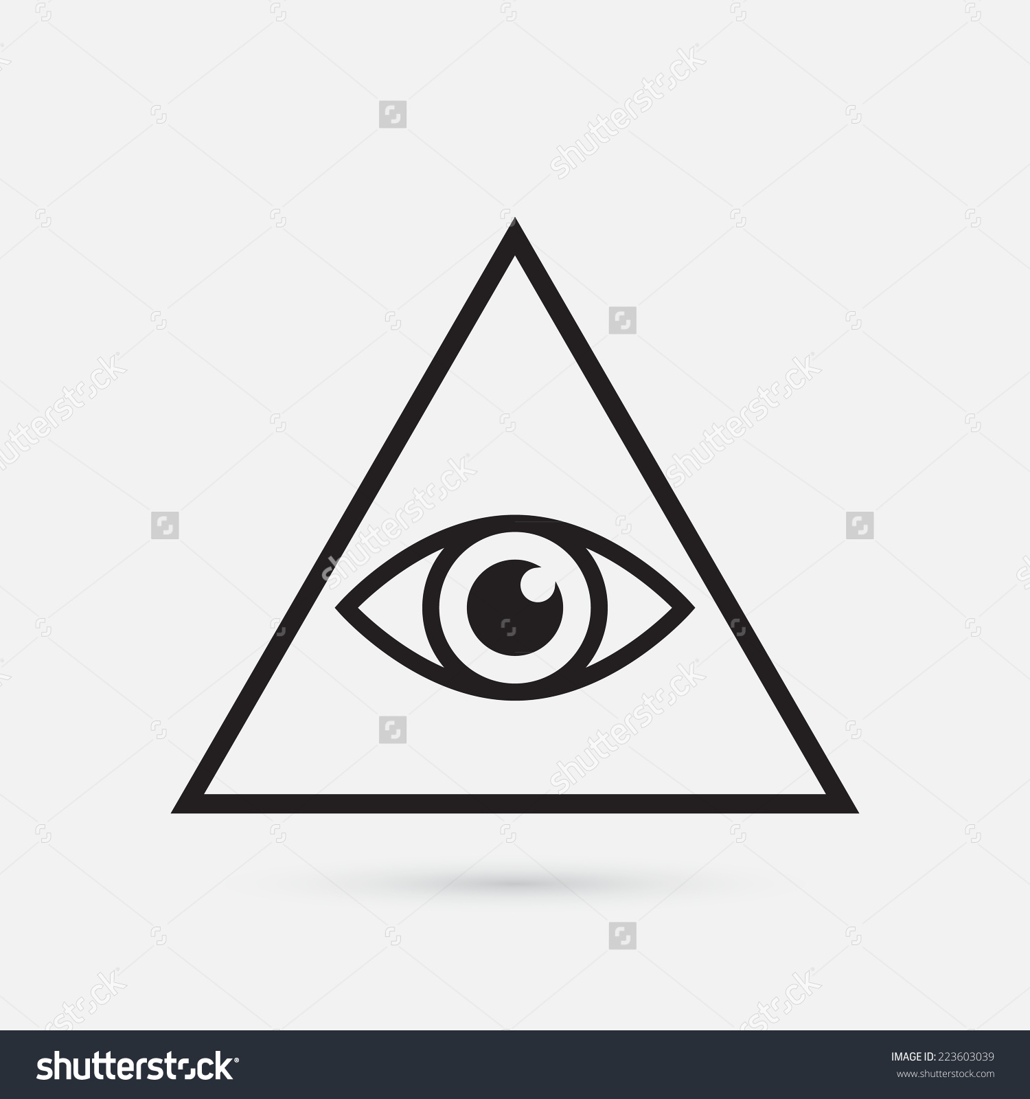 Collection of Illuminati clipart.