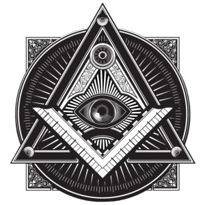 Men's Black Illuminati Logo.