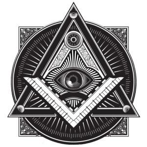 Men's Black Illuminati Logo.