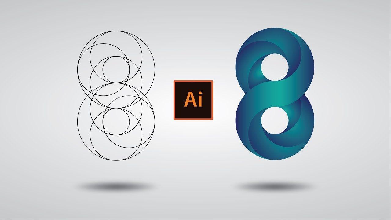 Illustrator cc Tutorial: Swirling Infinite Logo Design in.